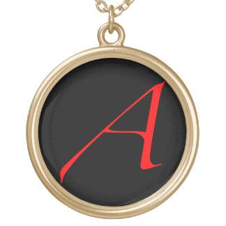 Atheist Scarlet A Necklace (Black Background)