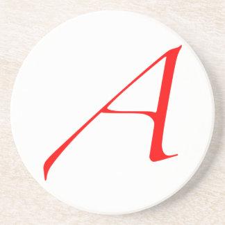 Atheist Scarlet Letter Coaster