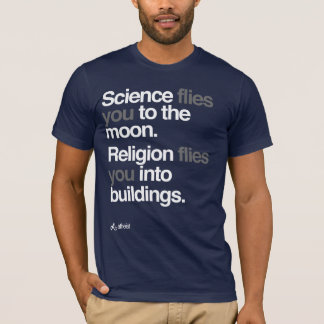 Atheist - Science Flies to the moon T-Shirt