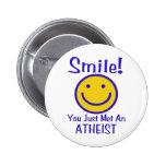 Atheist Smiley 6 Cm Round Badge