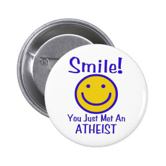 Atheist Smiley 6 Cm Round Badge