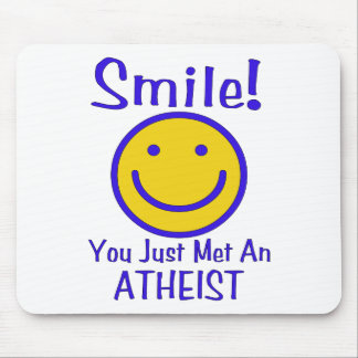 Atheist Smiley Mouse Pad