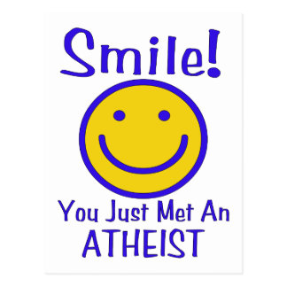 Atheist Smiley Postcard