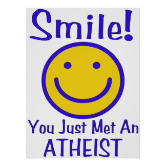Atheist Smiley Poster