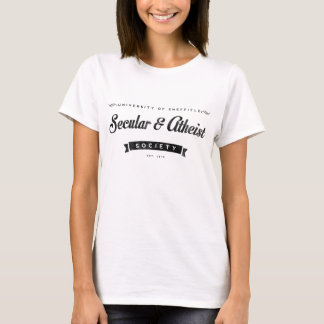 Atheist Society Ladies White T-Shirt