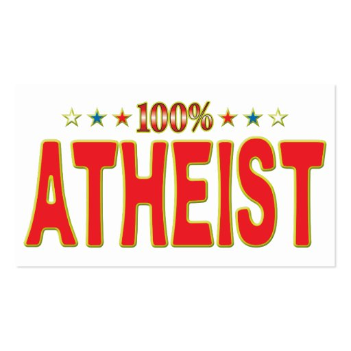 Atheist Star Tag Business Cards