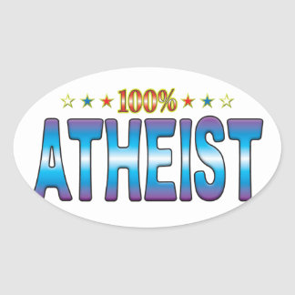 Atheist Star Tag v2 Oval Sticker