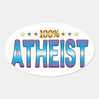 Atheist Star Tag v2 Oval Sticker