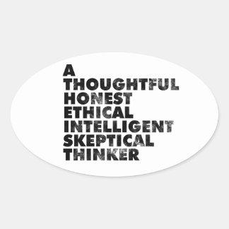Atheist! Oval Stickers