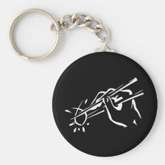Atheist  Sushi! (ichthys) Basic Round Button Key Ring