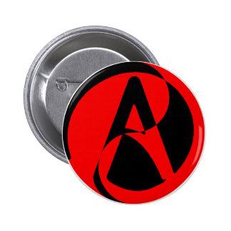 Atheist symbol 6 cm round badge