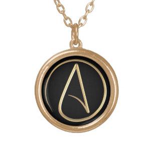 Atheist necklaces zazzle uk atheist symbol gold plated necklace aloadofball Choice Image