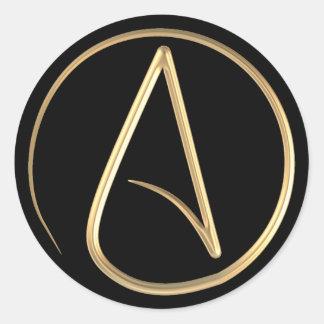 Atheist Symbol Round Sticker