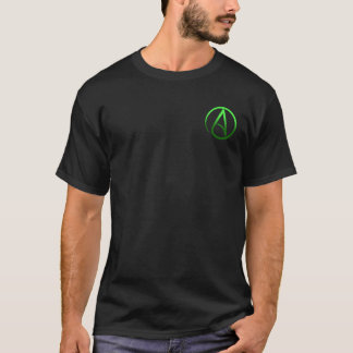 Atheist symbol (small logo) men's t-shirt