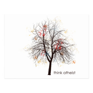 Atheist Tree Postcard