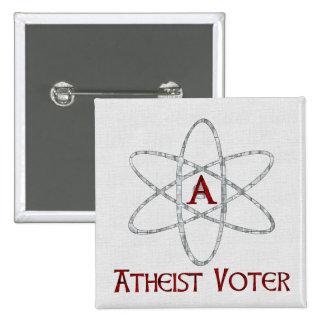 ATHEIST VOTER 15 CM SQUARE BADGE