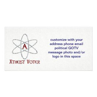 ATHEIST VOTER CUSTOMIZED PHOTO CARD