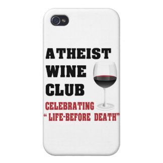 Atheist wine club cover for iPhone 4