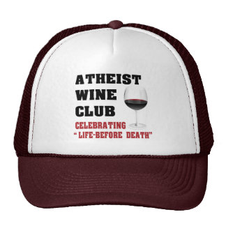 Atheist wine club mesh hats