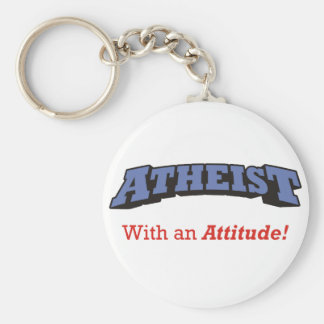Atheist - With an Attitude! Key Ring
