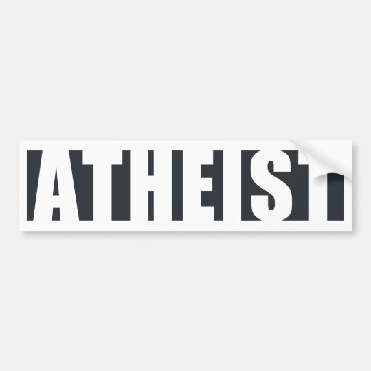 Atheist Within Bumper Sticker