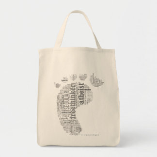 Atheist Wordcloud Organic Tote Tote Bags