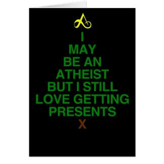 Atheist Xmas Tree Greeting Card