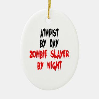 Atheist Zombie Slayer Christmas Ornament