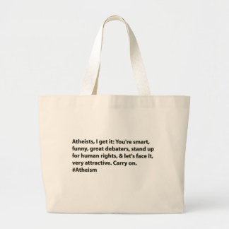 #Atheists Atheists, I get it: Canvas Bags
