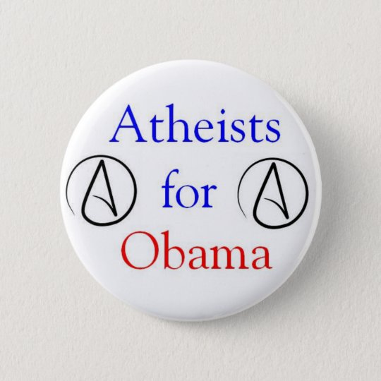 Atheists for Obama 6 Cm Round Badge