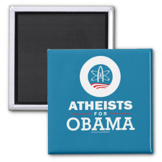 Atheists for Obama Square Magnet