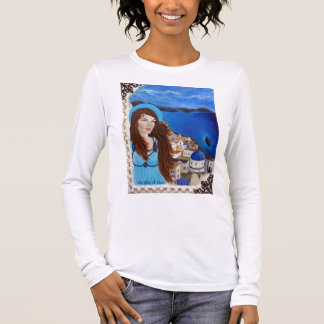 Athena Earthangel of Feminine Power and Strength Long Sleeve T-Shirt