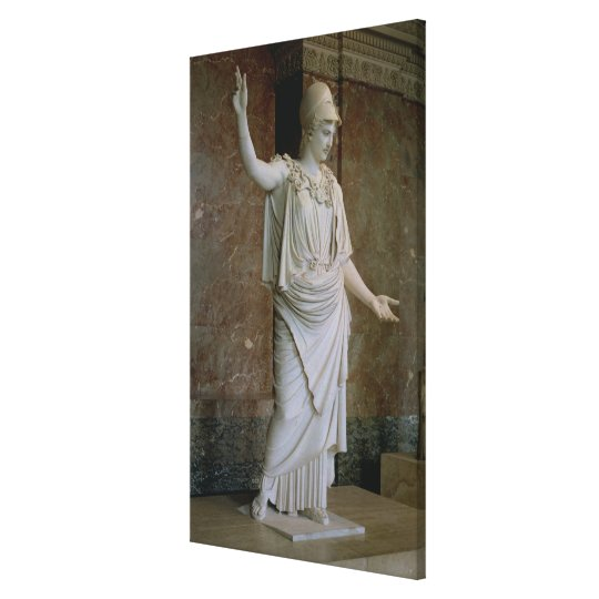 Athena, Greek, probably 5th century BC (marble) Canvas Print