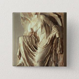 Athena Nike adjusting her sandal, c.420-420 BC 15 Cm Square Badge