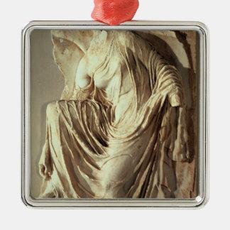 Athena Nike adjusting her sandal, c.420-420 BC Christmas Ornament