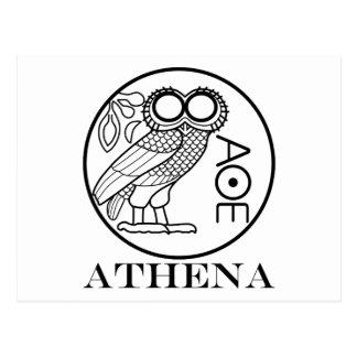 Athena's owl tetradrachm (Engravers Font) Postcard