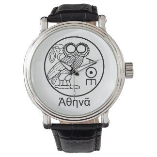 Athena's owl tetradrachm (Greek Font) Watches