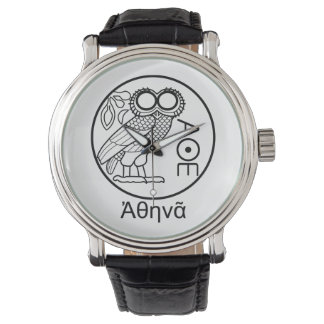 Athena's owl tetradrachm (Greek Font) Watch
