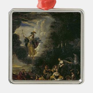 Athena visiting the Muses Christmas Ornament