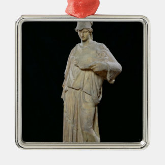 Athena with a cist, Roman copy of a 4th century Silver-Colored Square Decoration