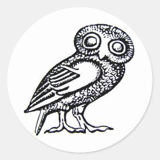 Athena's Owl Classic Round Sticker