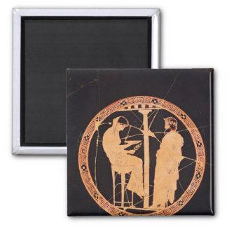 Athenian red-figure kylix depicting Aegeus Square Magnet