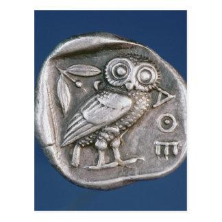Athenian tetradrachma postcard