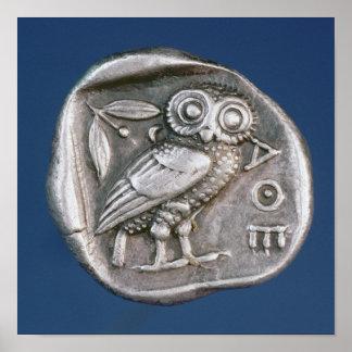 Athenian tetradrachma print