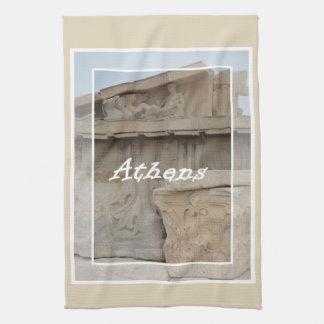 Athens Acropolis postcard Tea Towel