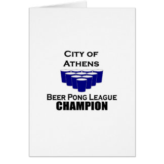 Athens Beer Pong Champion Greeting Cards