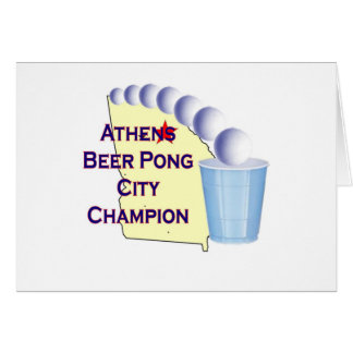 Athens Beer Pong Champion Cards