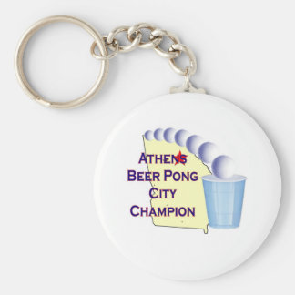 Athens Beer Pong Champion Key Chain