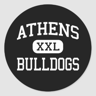 Athens - Bulldogs - High School - The Plains Ohio Classic Round Sticker