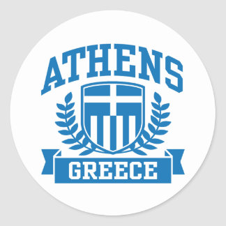 Athens Classic Round Sticker